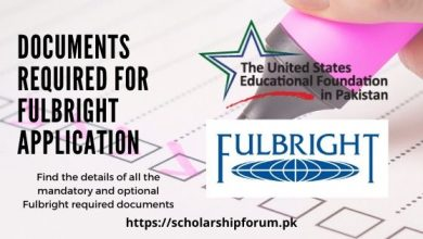 Photo of Documents Required for Fulbright Scholarship 2020