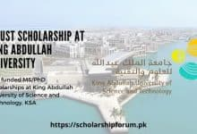 Photo of KAUST Scholarship for MS and PhD in KSA 2020
