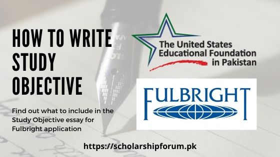 Study objective for Fulbright application