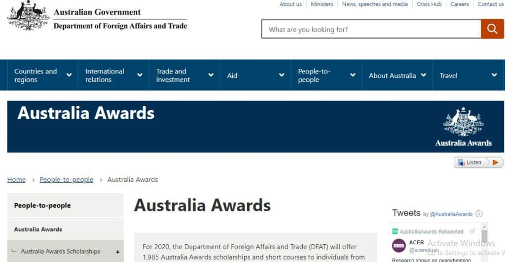 Australia Awards Scholarship - Best Scholarship