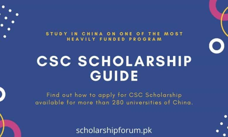 CSC Scholarship Study in China