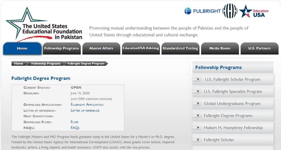Fulbright Scholarship Pakistan - One of the best scholarships