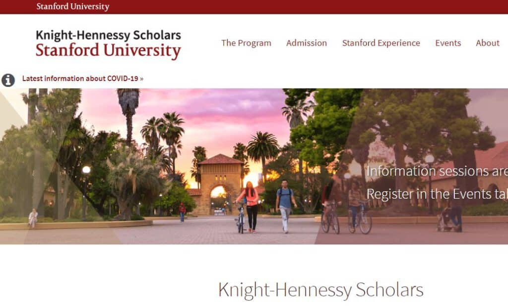 Knight Hennessy Scholarship for Stanford - Best Scholarships