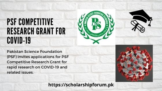PSF-Competitive-Research-Grant-for-rapid-research-on-COVID-19