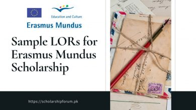 Photo of Sample LOR for Erasmus Mundus Scholarship