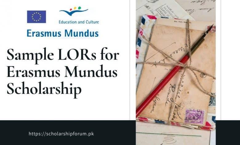 Sample LOR for Erasmus Mundus Scholarship