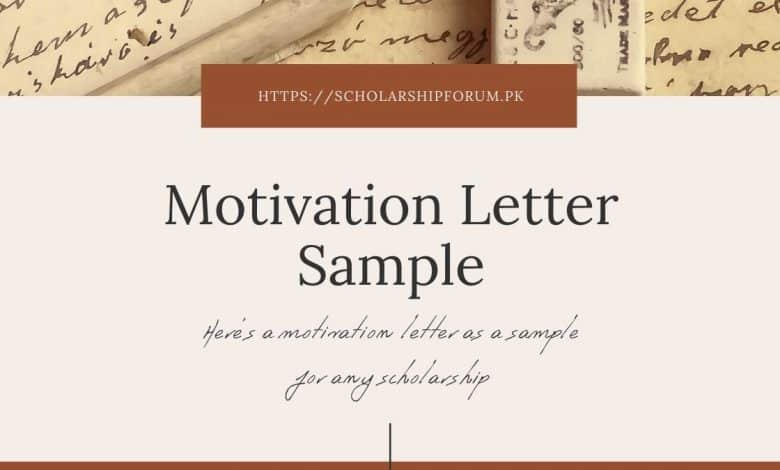 Sample Motivation Letter for Scholarship Applications