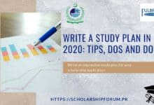Photo of Write a Study Plan in 2020: Tips, DOs and DON'Ts